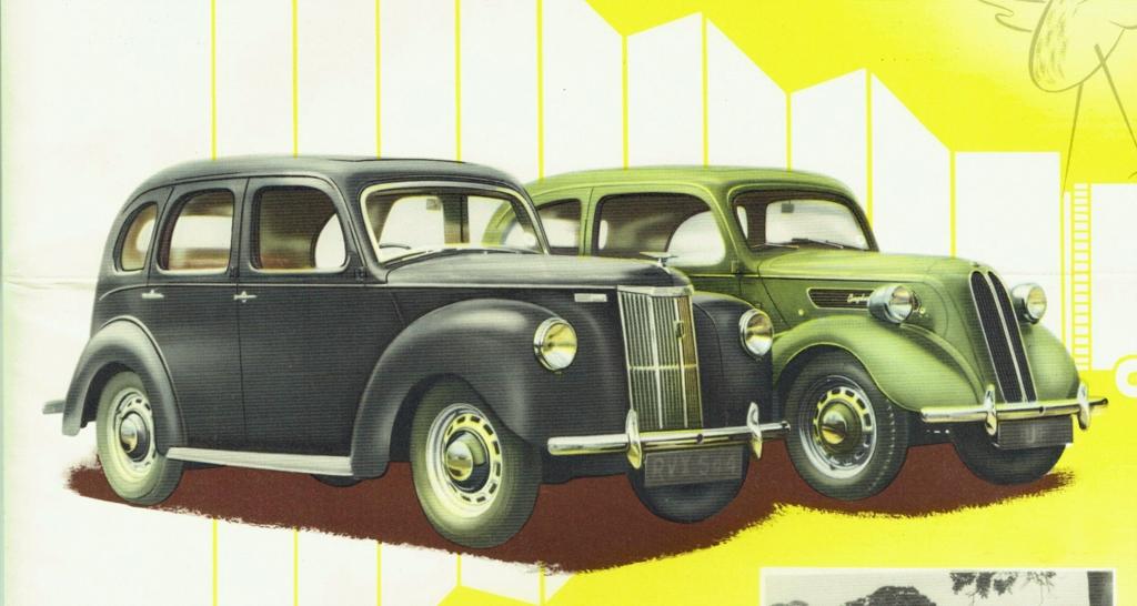 1949 Ford Prefect and Anglia