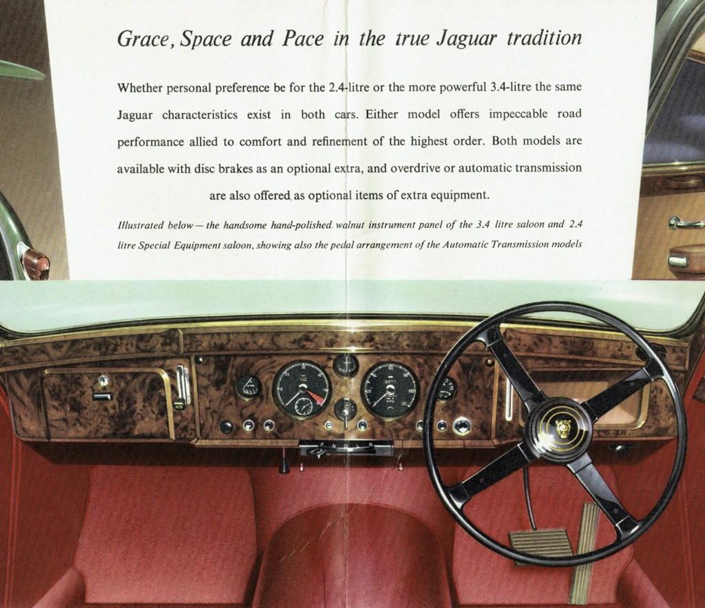Jaguar Mark 2 dashboard