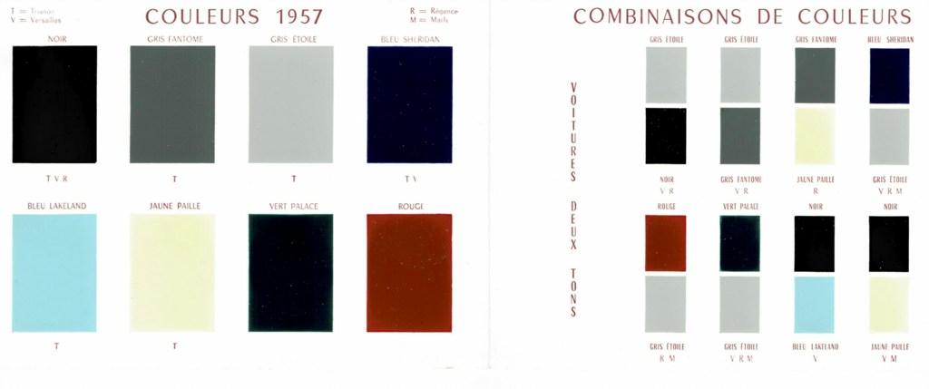 Simca Vedette colour scheme